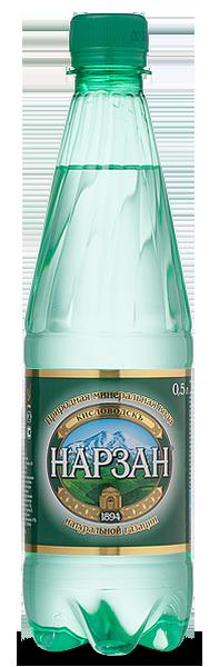 """Вода лечебно-столовая """"Нарзан"""" (природной газации) 0,5 л (ПЭТ)"""