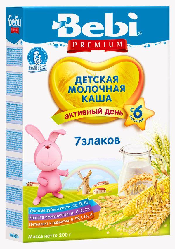 """Беби"" каша ""Bebi Premium"" молочная ""7 злаков"" 200,0"