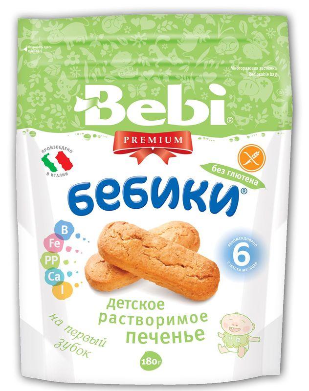 """""""Беби"""" Детское печенье Bebi Premium """"БЕБИКИ без глютена"""" (на основе кукурузной муки) 180,0"""