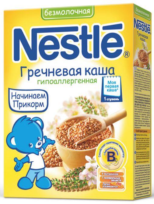 """""""Нестле"""" каша безмолочная гипоаллергенная гречневая (без сахара, с мальтодекстрином, с бифидобактериями) 200,0"""