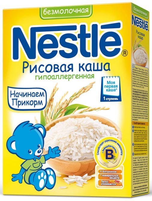 """""""Нестле"""" каша безмолочная гипоаллергенная рисовая (без сахара, с мальтодекстрином, с бифидобактериями) 200,0"""
