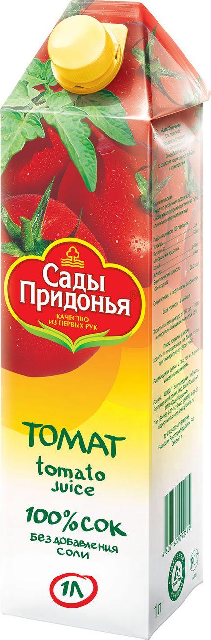 """Сок томатный (без соли, без сахара) 1000 мл """"Сады Придонья"""""""