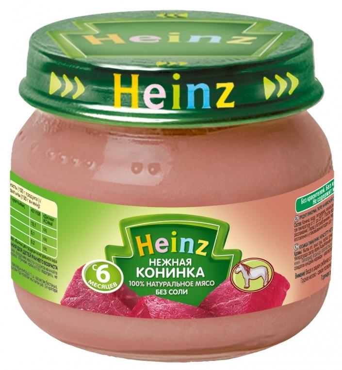 """Пюре """"Нежная конинка (без соли)"""" 80,0 """"Хайнц"""""""