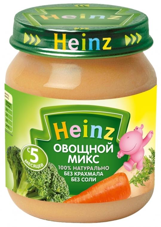 """Пюре """"Овощной микс (без соли)"""" 120,0 """"Хайнц"""""""