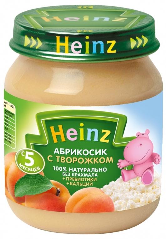 """Пюре """"Абрикосик с творожком (с пребиотиками, обогащенное кальцием, с вит.С)"""" 120,0 """"Хайнц"""""""