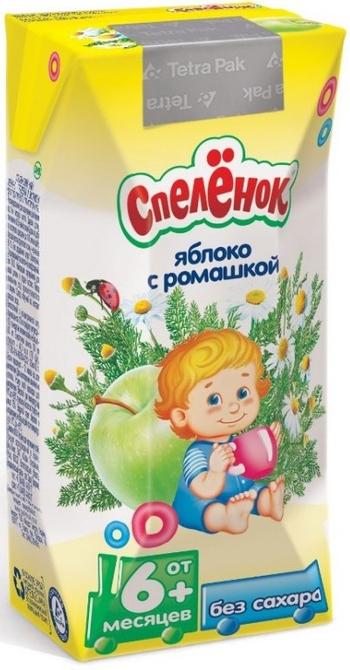 """Напиток функциональный сокосодержащий """"Яблоко с ромашкой"""" 200 мл """"Спеленок"""""""