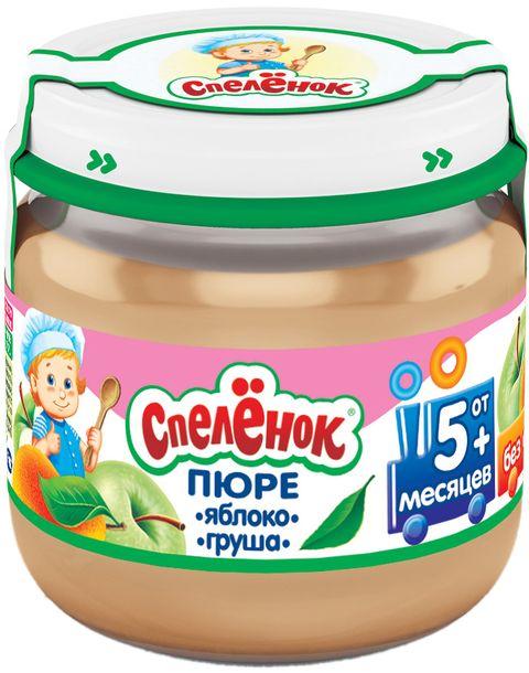 """Пюре """"Яблоко-Груша (без сахара)""""  80,0 """"Спеленок"""" (стеклобанка)"""