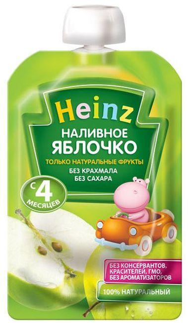 """Пюре """"Наливное яблочко (без сахара, с вит.С)"""" 100,0 """"Хайнц"""" (пауч-упаковка)"""