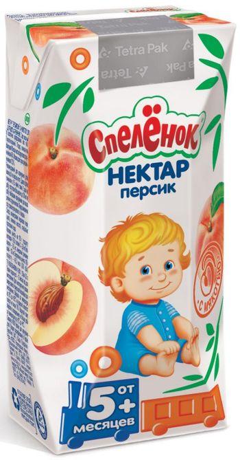 """Нектар """"Персик (с мякотью)"""" 200 мл """"Спеленок"""""""