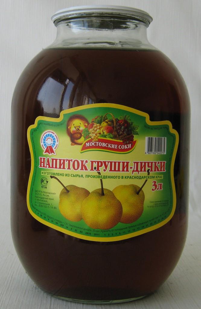 """Напиток из груши-дички 3 литра """"Мостовские соки"""""""