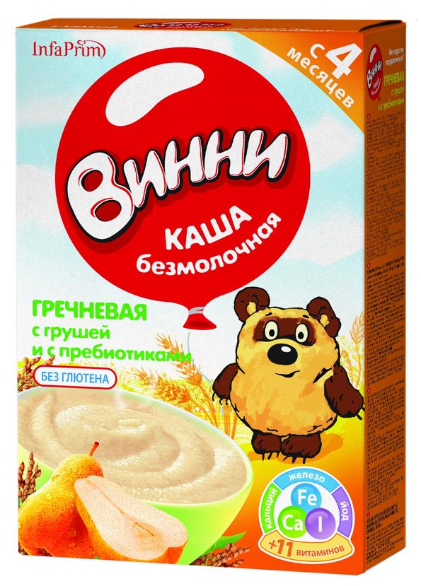 """""""Винни"""" каша безмолочная """"Гречневая с грушей и с пребиотиками"""" 220,0"""