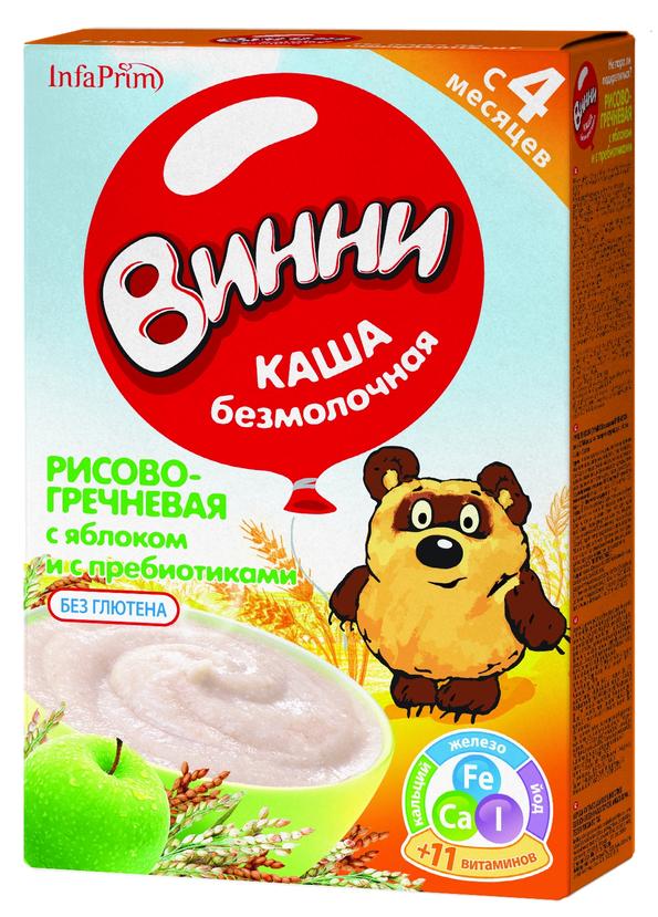 """Винни"" каша безмолочная ""Рисово-гречневая с яблоком и с пребиотиками"" 220,0"