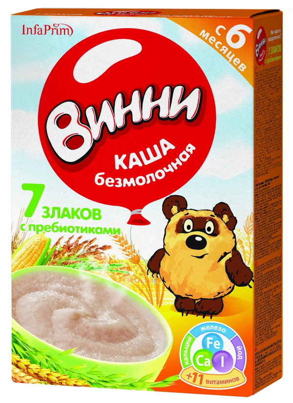 """""""Винни"""" каша безмолочная """"7 злаков с пребиотиками"""" 220,0"""