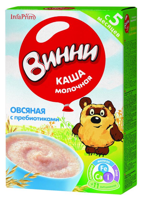 """""""Винни"""" каша молочная овсяная с пребиотиками 220,0"""