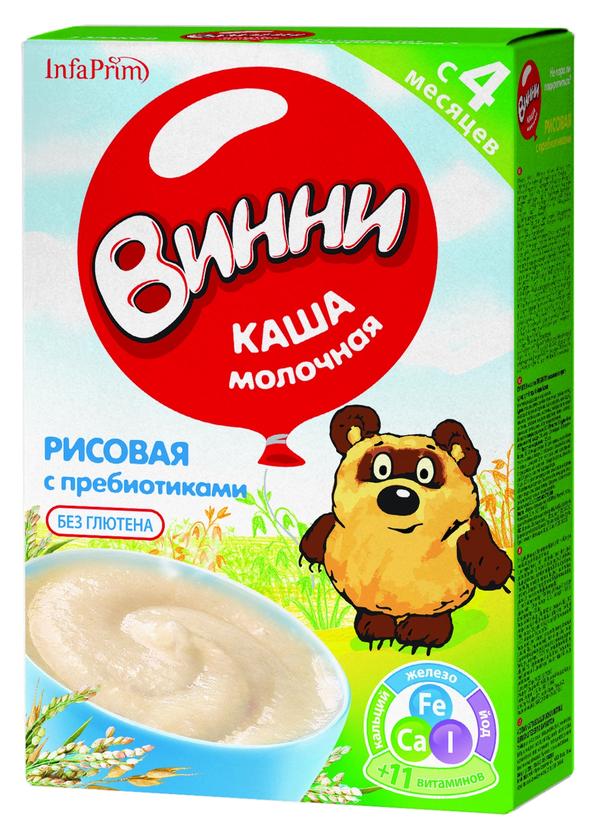 """""""Винни"""" каша молочная рисовая с пребиотиками 200,0"""