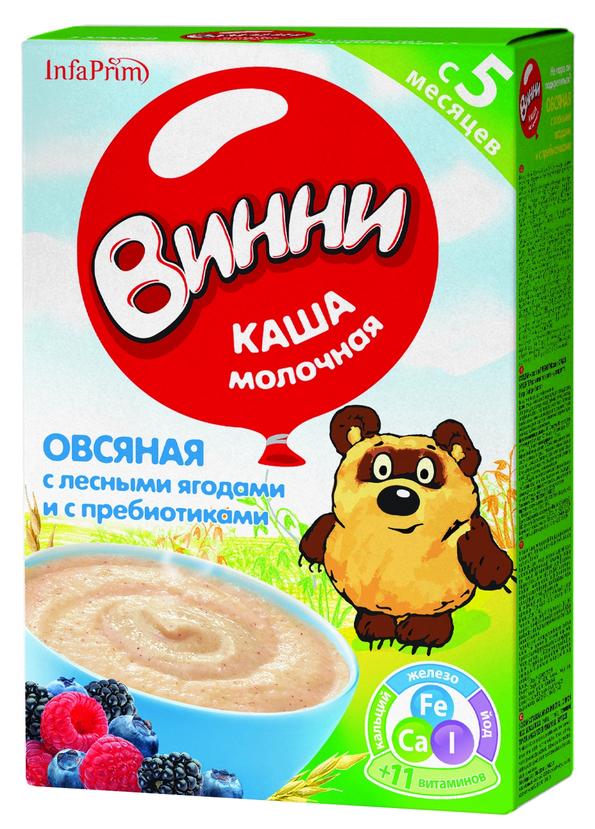 """""""Винни"""" каша молочная """"Овсяная с лесными ягодами и с пребиотиками"""" 220,0"""