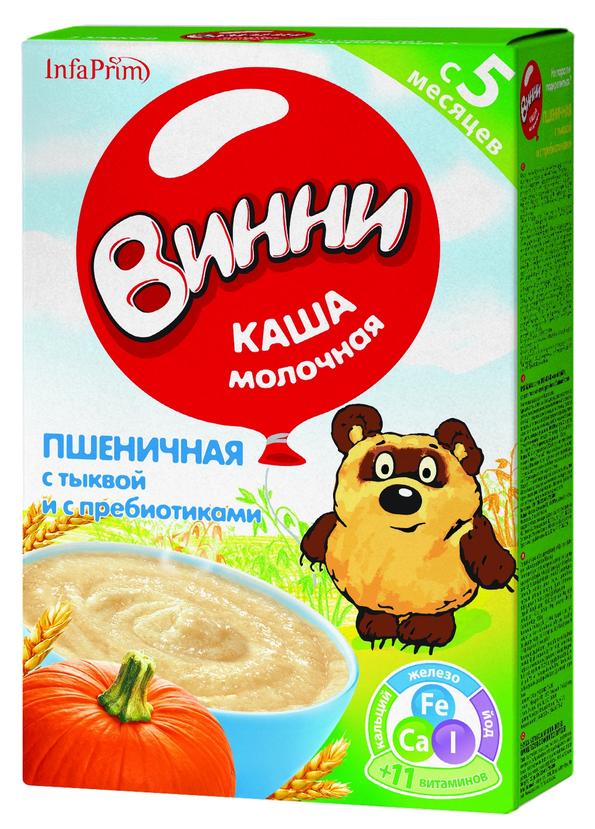 """Винни"" каша молочная ""Пшеничная с тыквой и с пребиотиками"" 220,0"