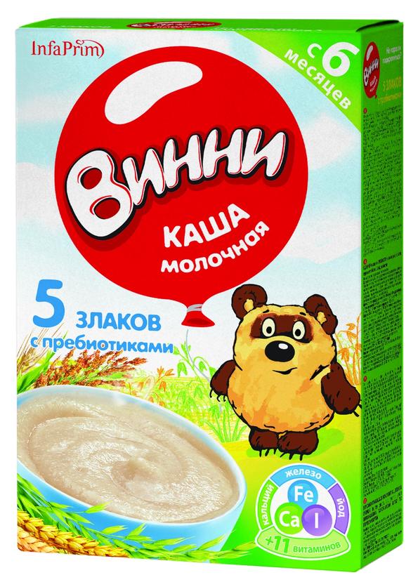 """""""Винни"""" каша молочная """"5 злаков с пребиотиками"""" 220,0"""