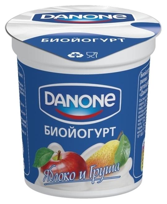 "Йогурт ""Биойогурт ЯБЛОКО и ГРУША"" (мдж-2,8%) 100,0 для детского питания ""DANONE (ДАНОН)"""