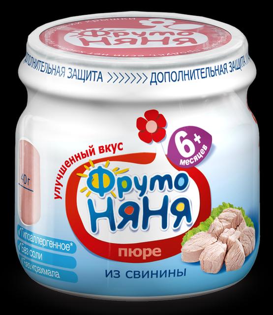 """Пюре мясное """"Свинина """"ПОРОСЕНОК"""" (гипоаллергенное, без соли)"""" 80,0 """"ФрутоНяня"""""""