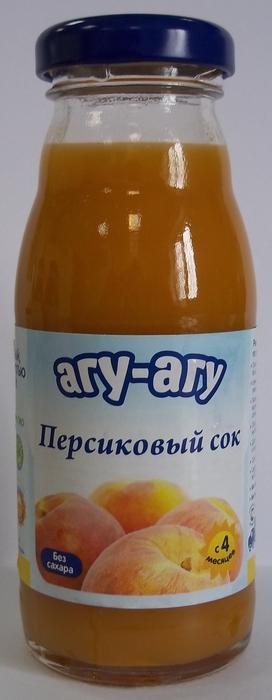 """Сок персиковый (с мякотью, без сахара) 170 мл """"АГУ-АГУ"""""""