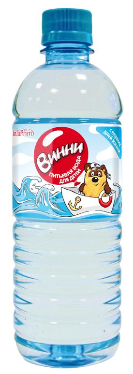 """Вода детская питьевая """"Винни"""" 0,5 л"""