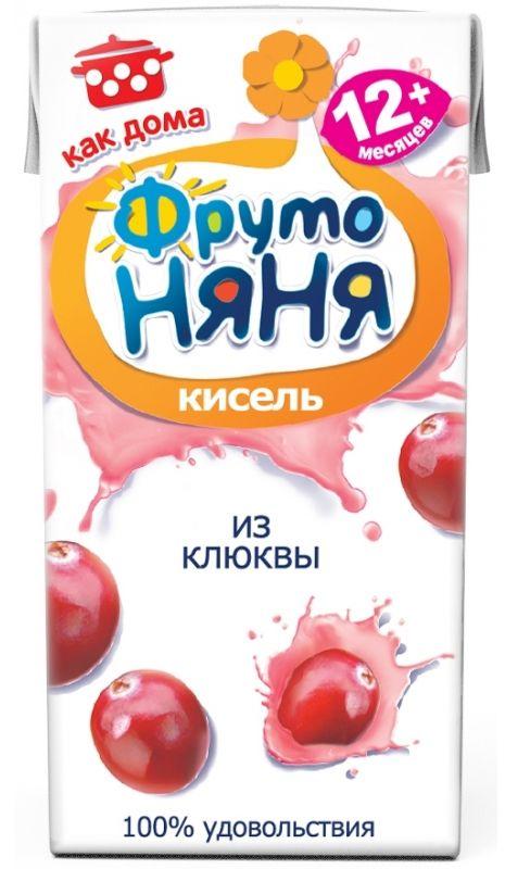 """Детский """"Кисель из клюквы"""" 200 мл """"ФрутоНяня"""""""