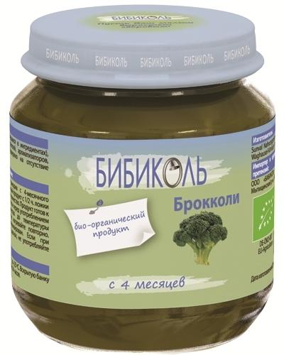 """Пюре """"Капуста Брокколи"""" 125,0 (без сахара, без соли, биоорганический продукт) """"Бибиколь"""""""