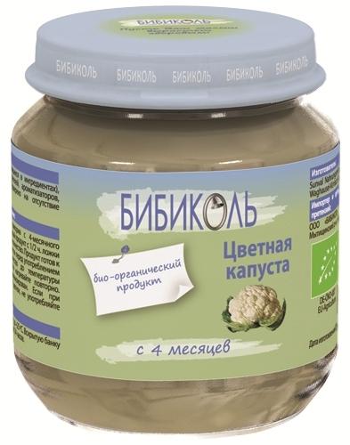 """Пюре """"Капуста цветная"""" 125,0 (без сахара, без соли, биоорганический продукт) """"Бибиколь"""""""
