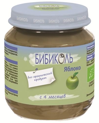 """Пюре """"Яблоко"""" 125,0 (без сахара, биоорганический продукт) """"Бибиколь"""""""