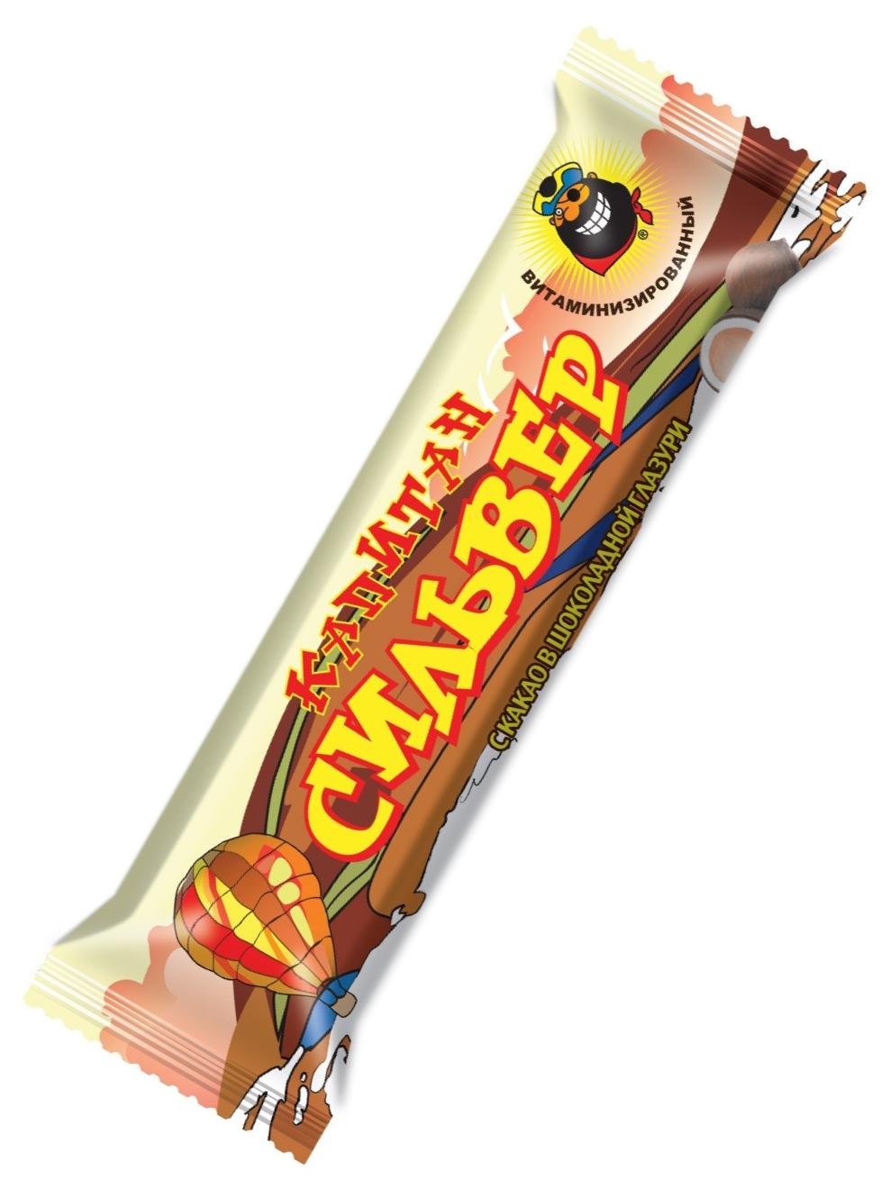 """""""Капитан Сильвер"""" (батончик кокосовый с какао в шоколадной глазури витаминизированный) 50,0"""