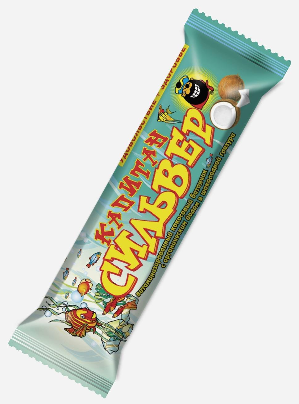 """""""Капитан Сильвер"""" (батончик кокосовый с органическим йодом в шоколадной глазури витаминизированный) 35,0"""