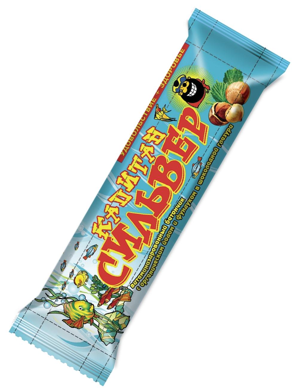 """""""Капитан Сильвер"""" (батончик ореховый с органическим йодом и фундуком витаминизированный, в шоколадной глазури) 35,0"""