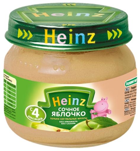 """Пюре """"Сочное яблочко (без сахара, с вит.С)""""  80,0 """"Хайнц"""""""