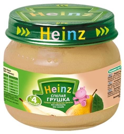 """Пюре """"Спелая грушка (без сахара, с вит.С)""""  80,0 """"Хайнц"""""""