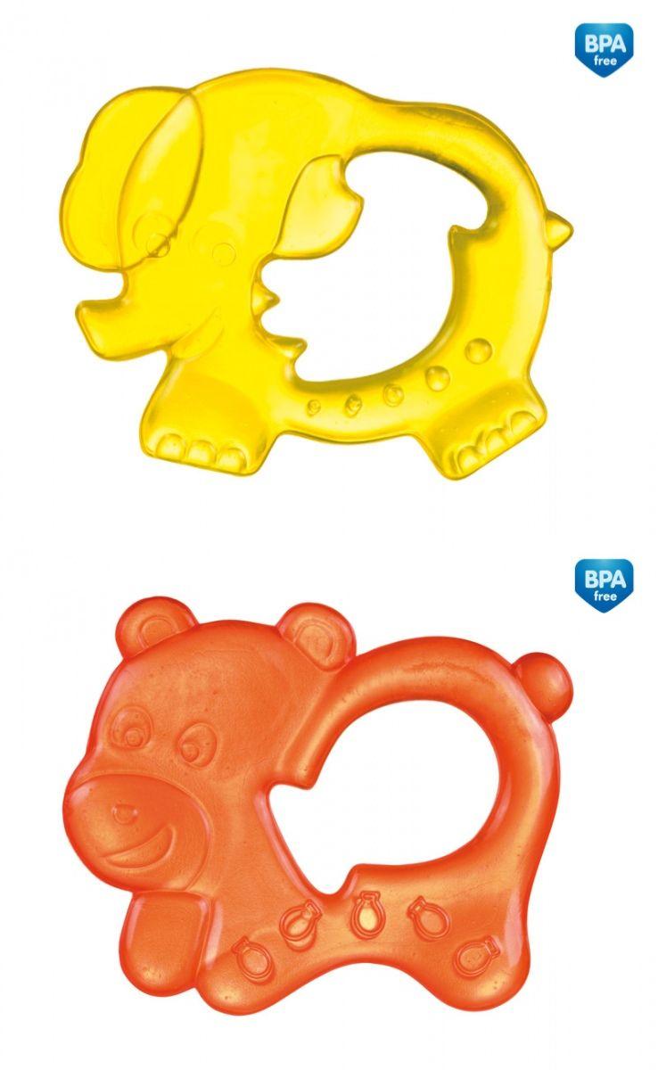 """Прорезыватель для зубов охлаждающий (дизайн """"Цирковые зверюшки (слоник, медвежонок)"""", с дистиллированной водой), 2/194, """"Canpol babies"""""""