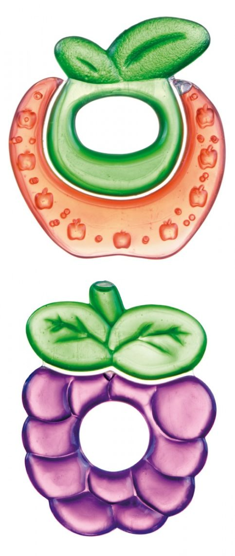 """Прорезыватель для зубов охлаждающий (дизайн """"Фрукты"""", с дистиллированной водой, двухцветный), 2/812, """"Canpol babies"""""""