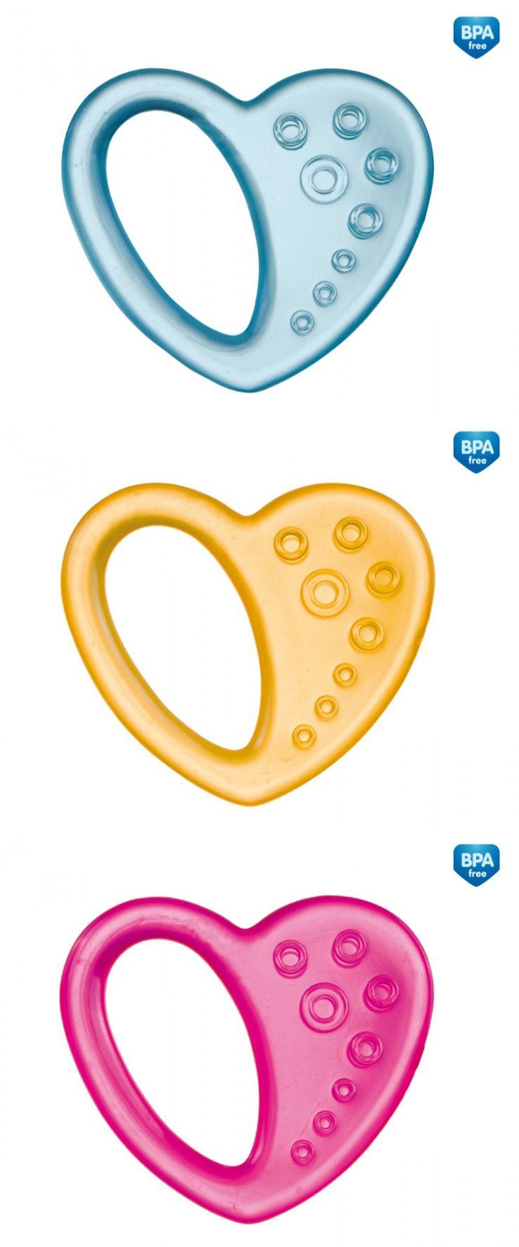 """Прорезыватель для зубов охлаждающий (дизайн """"Сердечко"""", с дистиллированной водой), 2/294, """"Canpol babies"""""""
