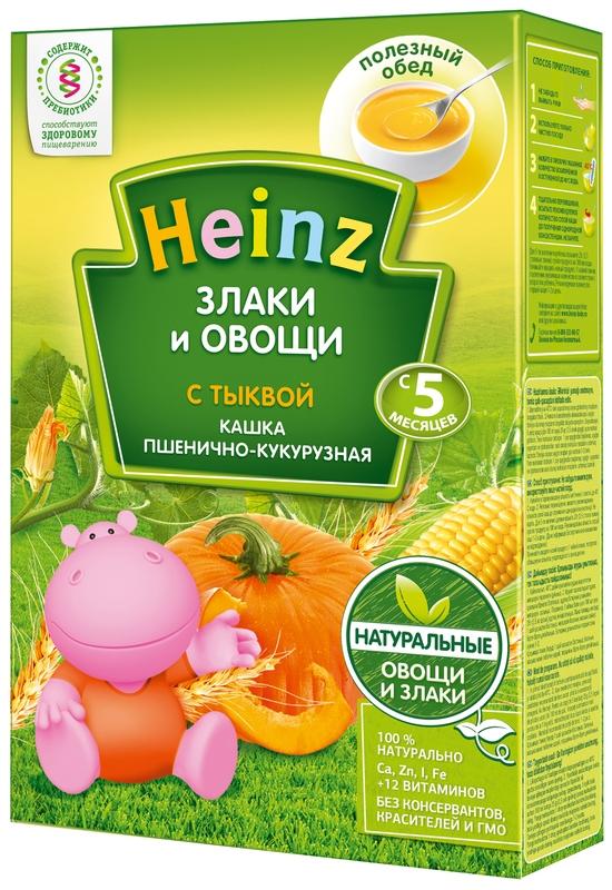 """""""Хайнц"""" каша """"Heinz"""" безмолочная """"Злаки и овощи. Кашка пшенично-кукурузная с тыквой (с пребиотиками)"""" 200,0"""