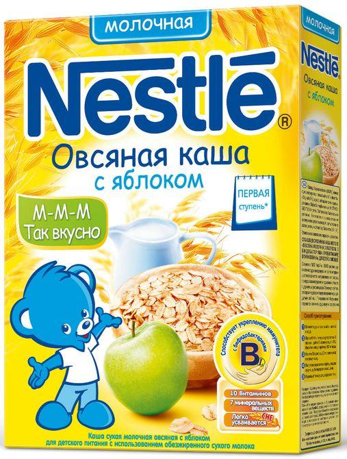 """""""Нестле"""" каша молочная """"Овсяная с яблоком"""" (с сахаром, с бифидобактериями) 250,0"""