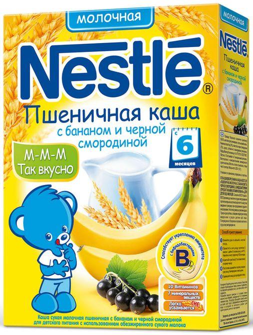 """""""Нестле"""" каша молочная """"Пшеничная с бананом и черной смородиной"""" (с сахаром, с бифидобактериями) 250,0"""