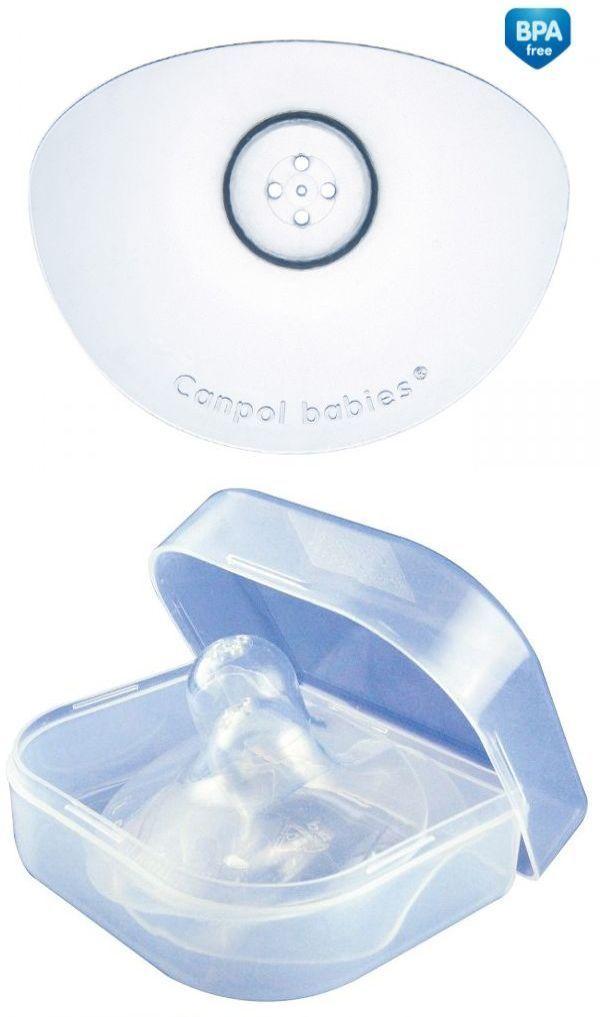 """Накладки силиконовые для груди """"EasyStart"""" (защитные накладки на сосок во время кормления, размер """"L"""" (стандартные), 2 штуки в пластиковом контейнере, исполнение """"PREMIUM""""), 18/603, """"Canpol babies"""""""