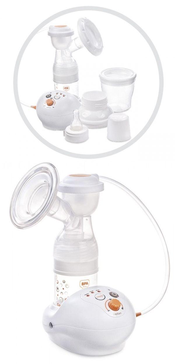 """Молокоотсос электрический """"EasyStart"""" (в комплекте: контейнер для хранения молока с крышкой, бутылочка для кормления с крышкой, соска силиконовая, принадлежности), 3-х режимный, 3-х ступенчатый, с сетевым адаптером и сумкой, 12/201, """"Canpol babies"""""""