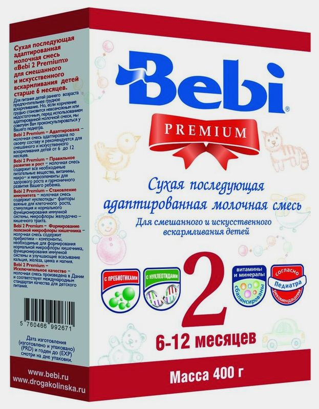 "Молочная смесь Беби ""Bebi Premium 2"" 400,0 (пачка)"