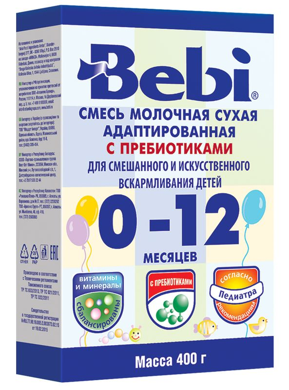 "Молочная смесь Беби ""Bebi 0-12"" 400,0 (пачка)"