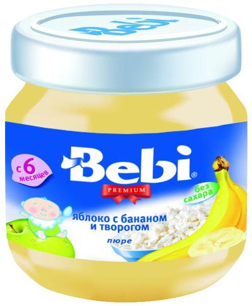 """Пюре """"Яблоко с бананом и творогом (без сахара)"""" 100,0 """"Беби"""""""