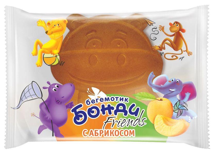 """Детские бисквитные пирожные """"Бегемотик Бонди"""" с абрикосовой начинкой 32,0 (Бегемотик Бонди Friends с абрикосом)"""