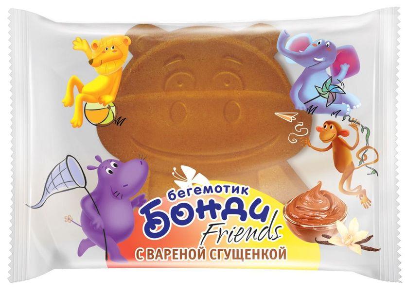 """Детские бисквитные пирожные """"Бегемотик Бонди"""" с начинкой из сгущеного молока 30,0 (Бегемотик Бонди Friends с вареной сгущенкой)"""