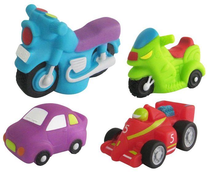 """Набор игрушек для ванны """"Гонки-2"""" (с пищалкой, 4 штуки), 20019, """"ПОМА"""""""