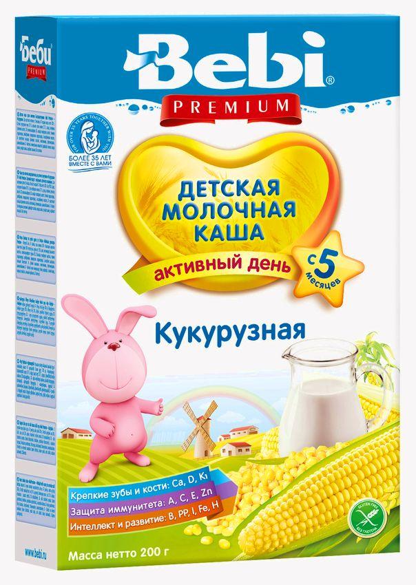 """Беби"" каша ""Bebi Premium"" молочная кукурузная 200,0"